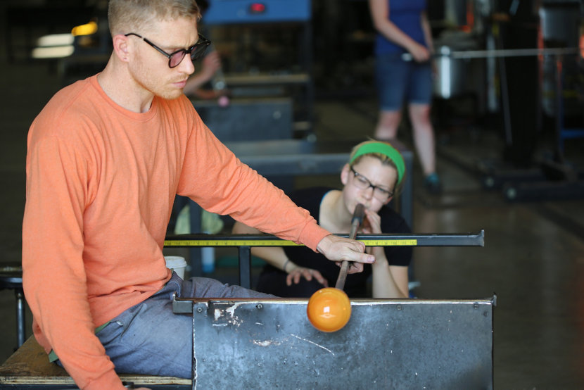 Watch Live Glass-Blowing Demonstrations at the Fall Factory Sale