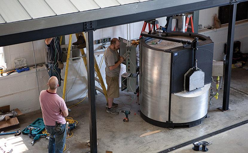 glass factory renovation