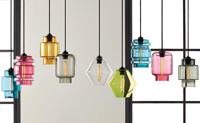 colorful glass pendant lighting series