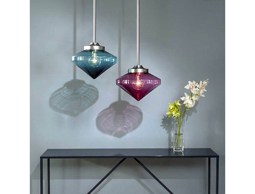 Niche Coolhaus pendant lights in Condesa and Rose glass