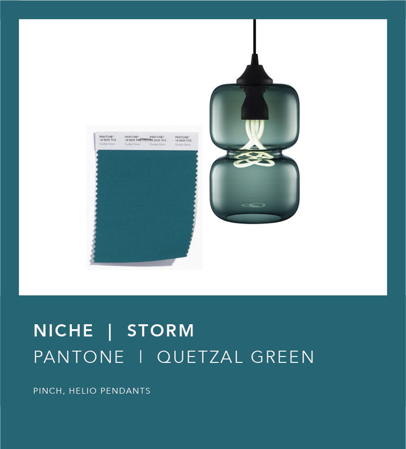 Pantone Fall 2018 Color Trend Report - Quetzal Green Storm