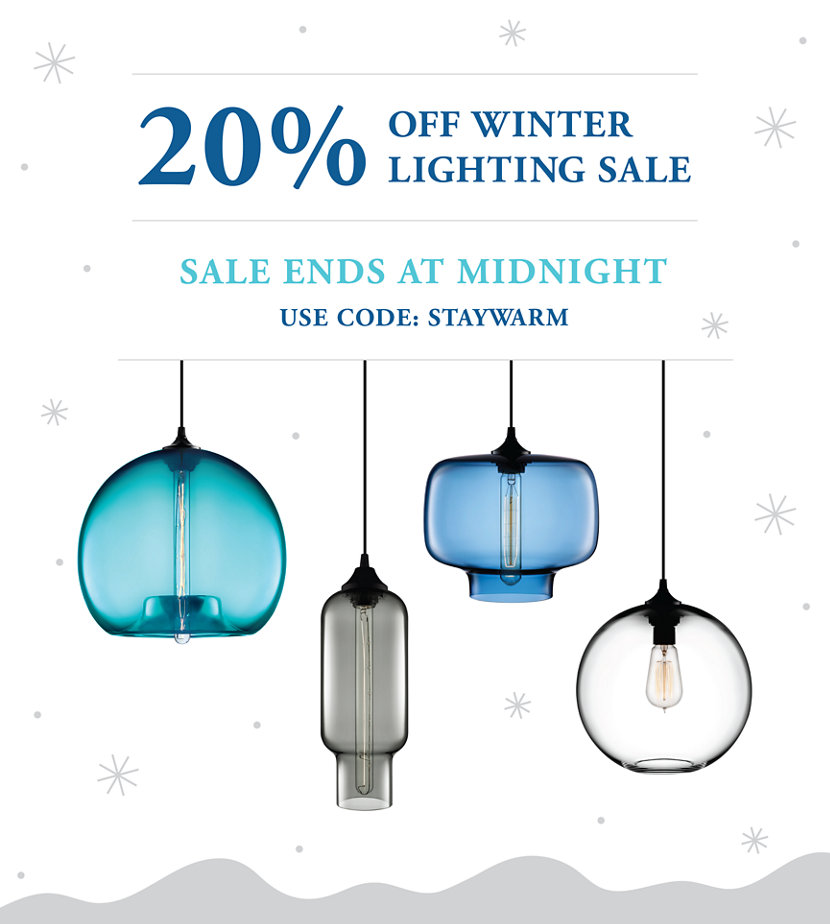 Last Chance to Save 20% on Modern Lighting