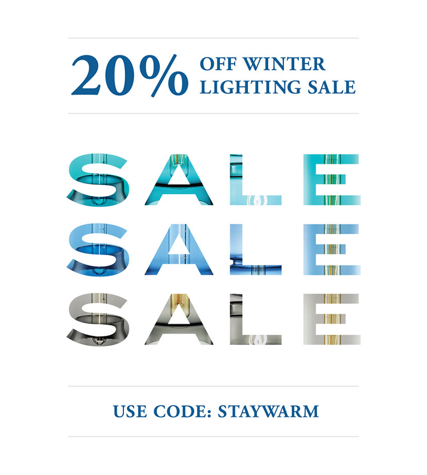 Take 20% Off Pendants During Our Winter Lighting Sale