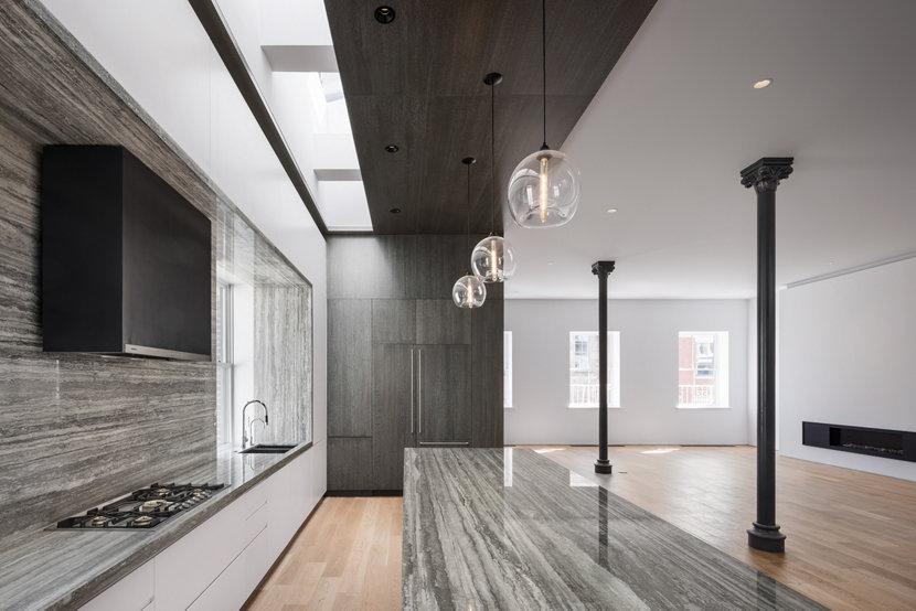 Stamen Pendants Featured in 25 Mercer Penthouse