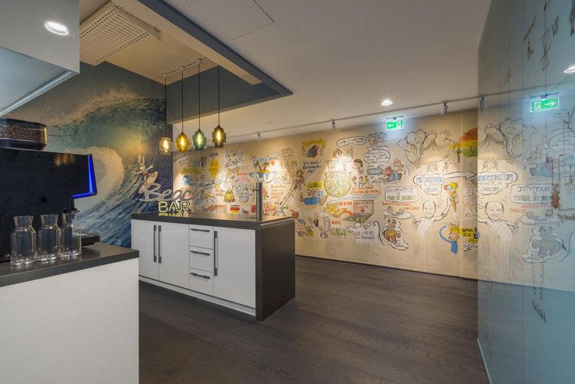 Handmade Pendant Lights in Modern Office Setting
