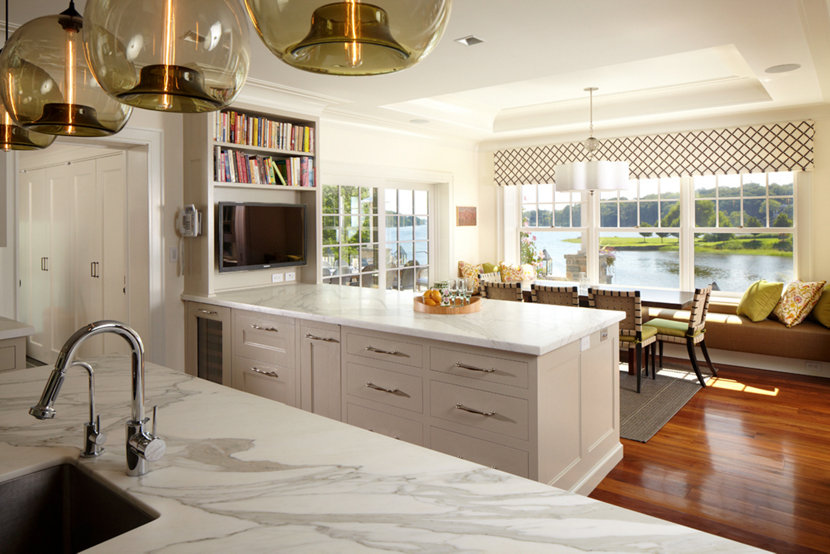 The Open Kitchen Boasts Beautiful Views Of The Long Island Sound