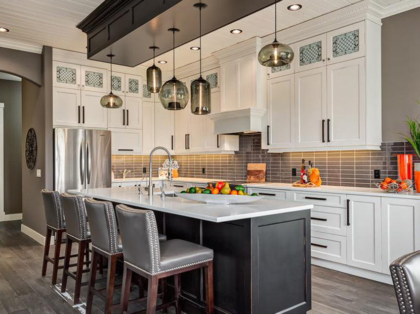 How many pendant lights should be used over a kitchen island 4 kitchen island pendant lights aloadofball Choice Image