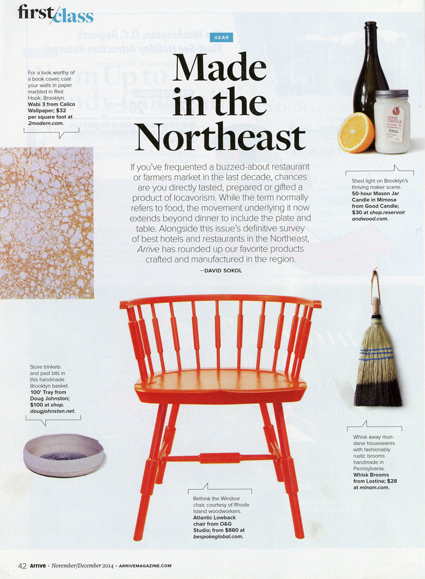 Niche Luxe Carafe in condesa glass in Amtrak Arrive Magazine