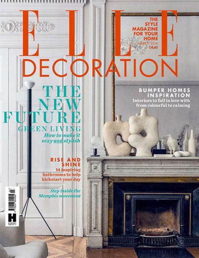 Elle Decoration UK March 2016 magazine cover