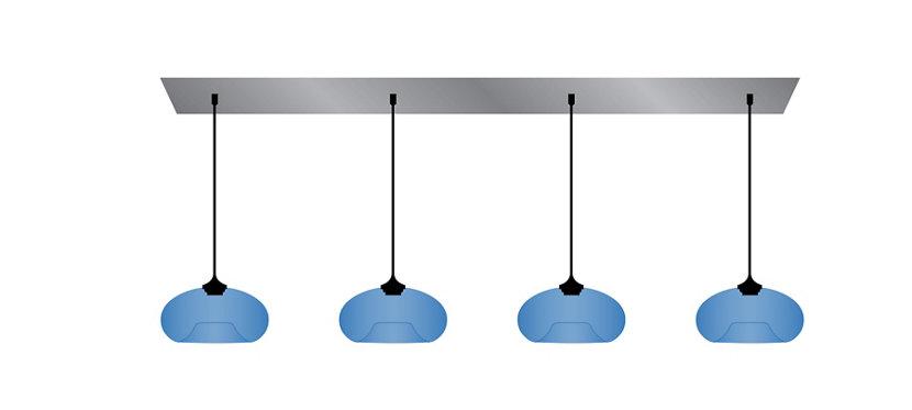 Multi-Pendant Modern Chandeliers Featuring Aurora Pendants