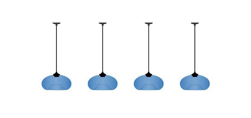 Multiple Junction Boxes with Aurora Pendants