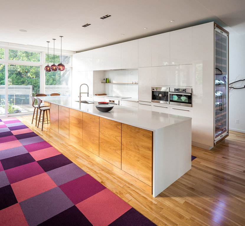 Plum Kitchen Paint: Plum Modern Pendant Lighting Adds Pop Of Color In Canadian