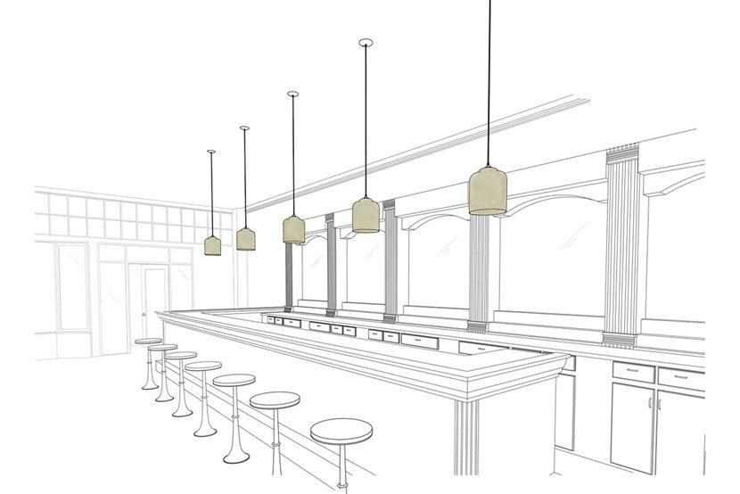 Modern Bar Lighting Illuminated by Bell Jar Modern Pendant Lights