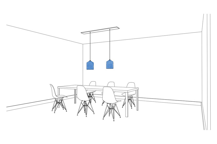 Multi-Pendant Canopies Are Perfect for Hanging Several Bell Jar Modern Pendant Lights