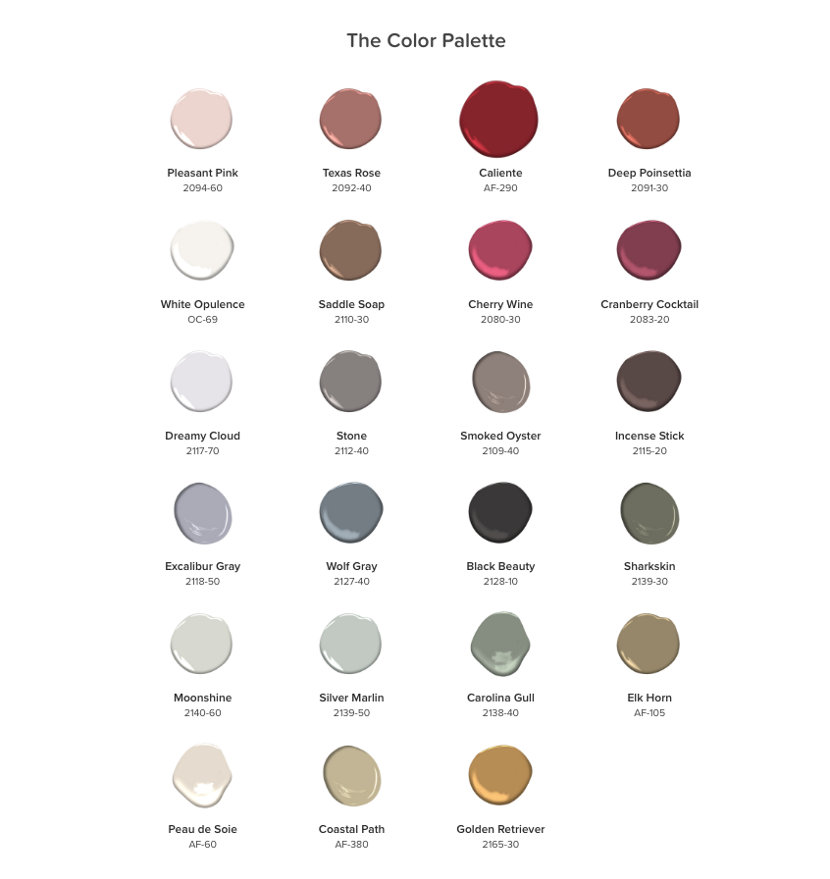 Benjamin Moore 2018 Color of the Year Color Palette