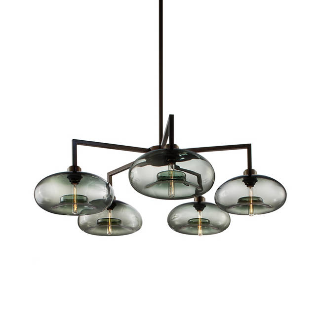 Quill 5 modern chandelier aurora in gray aloadofball Images