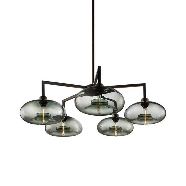 Quill 5 modern chandelier aurora in gray mozeypictures Images