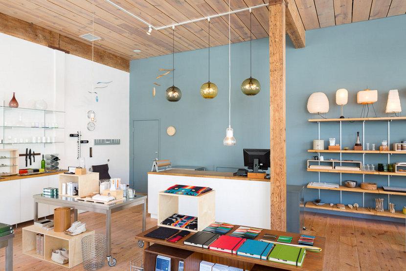 Portland Boutique Incorporates Niche Modern Retail Pendant Lighting