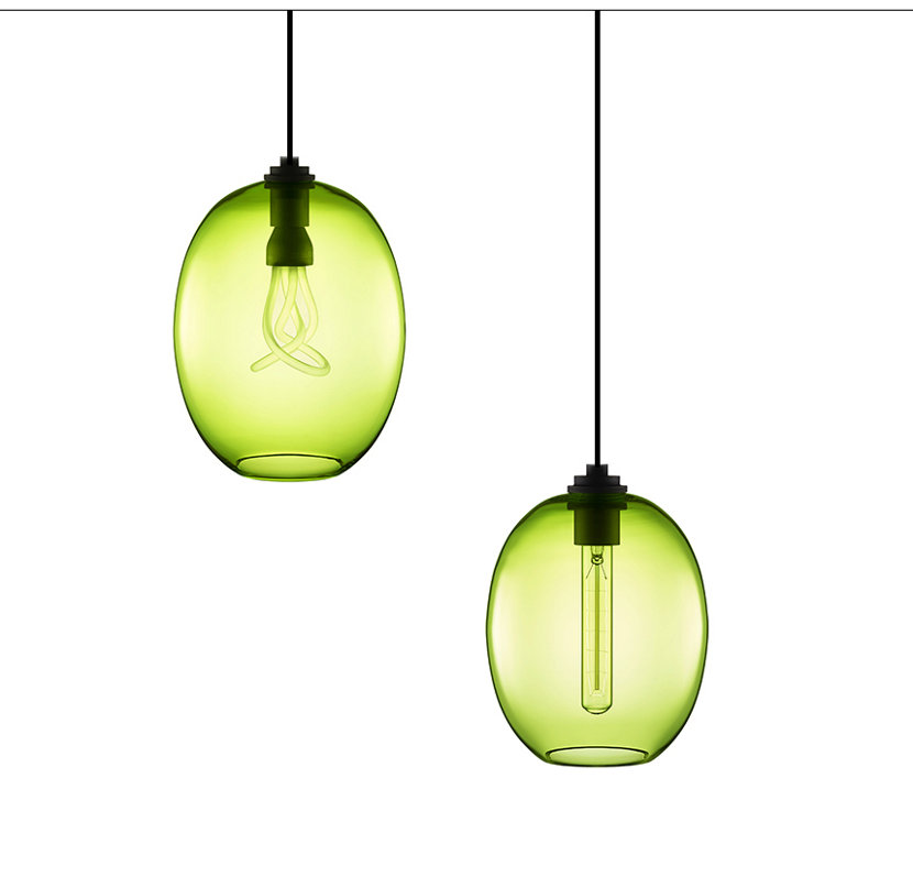 Chartreuse Pendant Lights - Ellipse