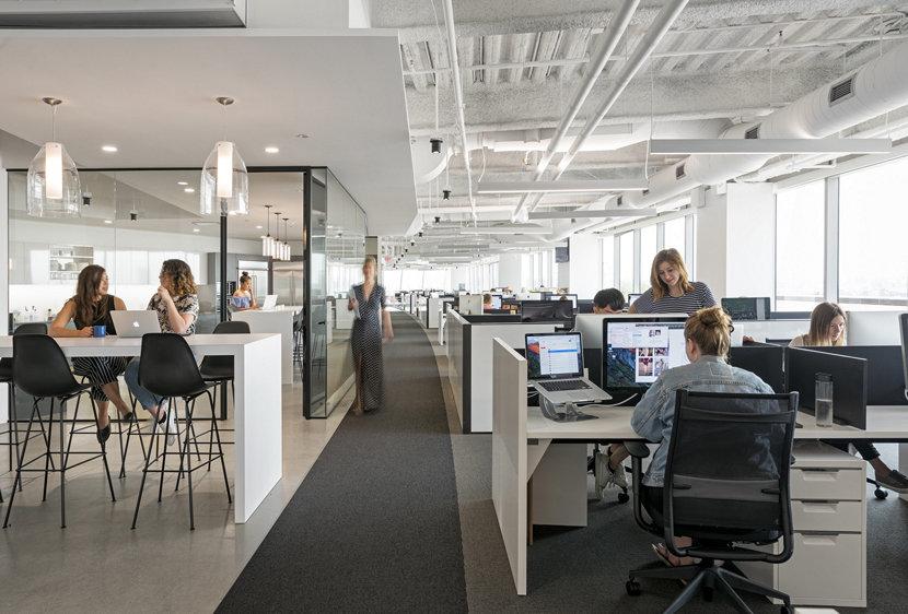Modern Office Lighting - Bella Pendants in Crystal Glass