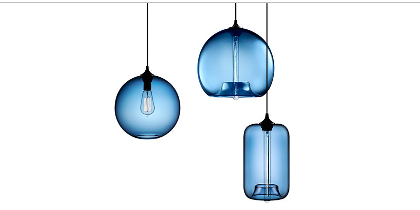 Sapphire glass pendants