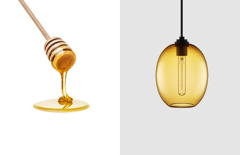 Contemporary Amber Glass