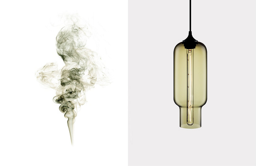 Contemporary Colored Glass - Smoke