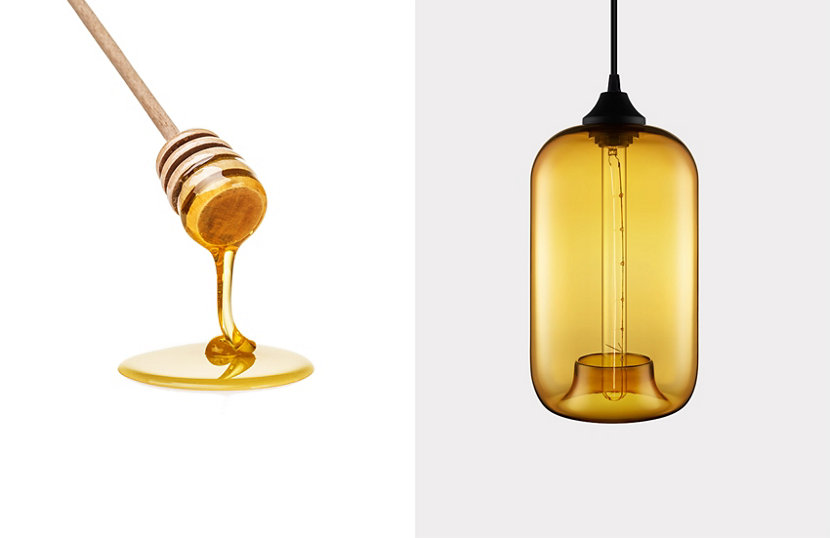 Amber Contemporary Colored Glass