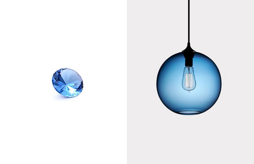 Sapphire Color Glass