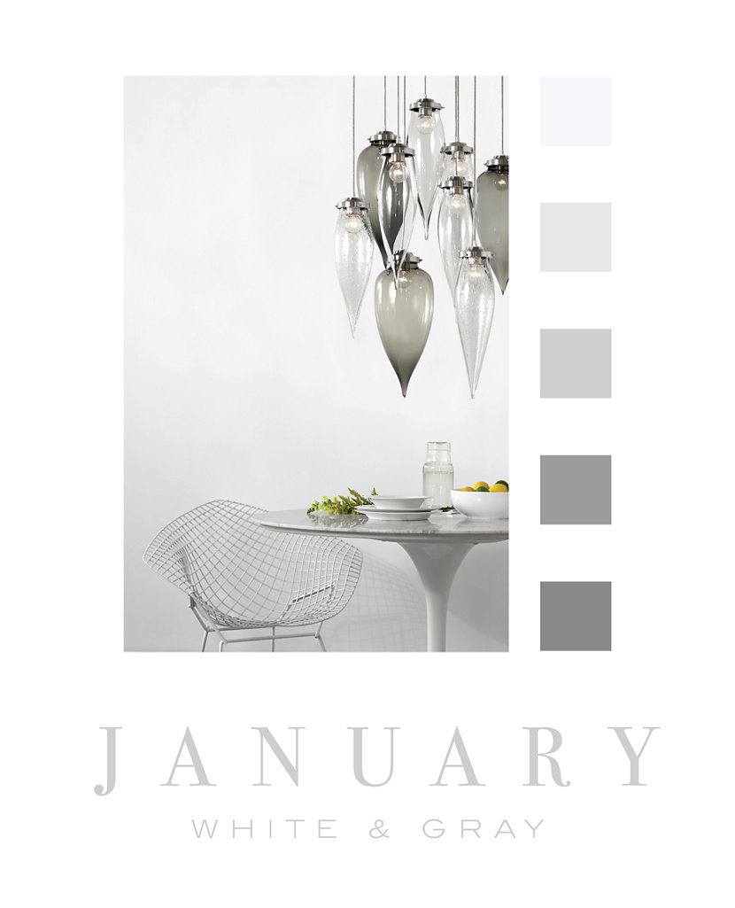 Color of the Month - January - Gray and White