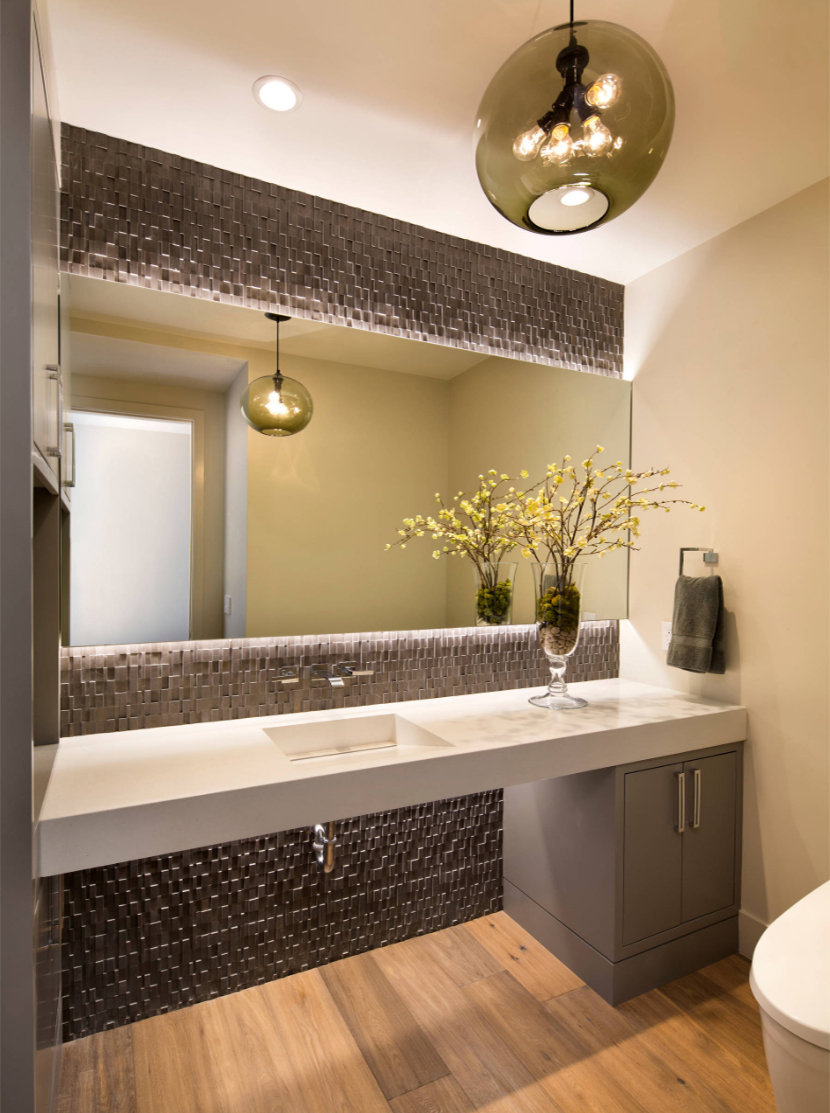 Contemporary Bathroom Pendant Lighting 3 contemporary bathrooms with orb pendant lights