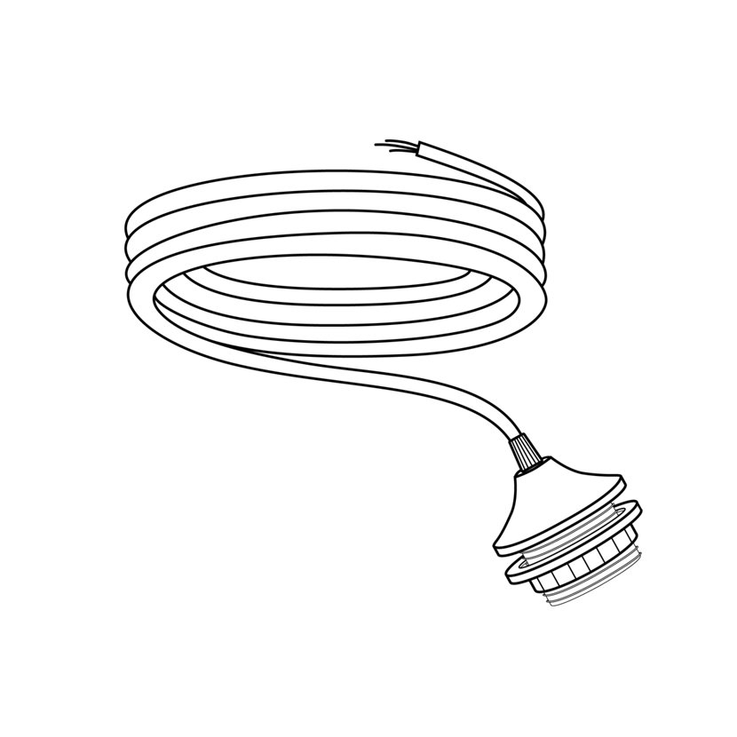 drawing of pendant light cord set