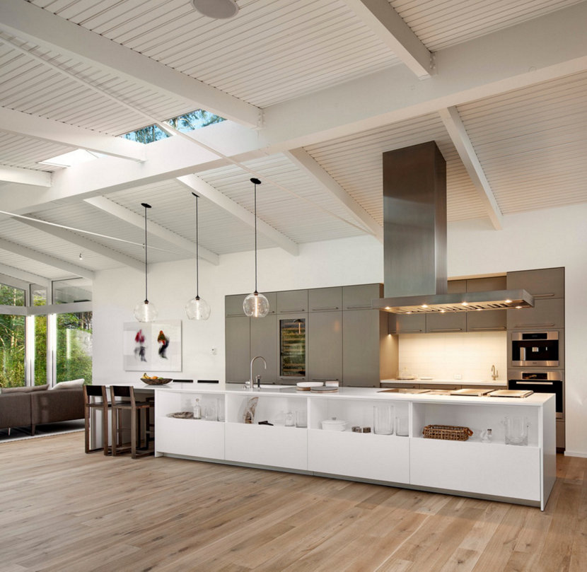 Hand-Blown Glass Kitchen Island Lighting Illuminates California