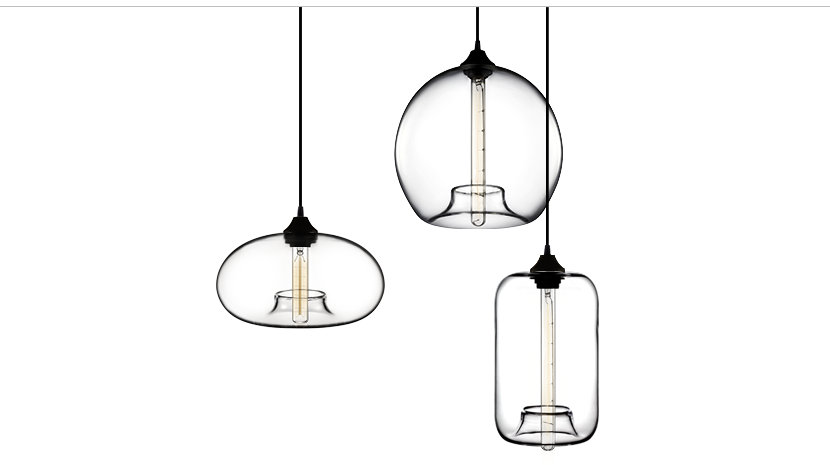 Hand-Blown Glass Modern Pendant Light