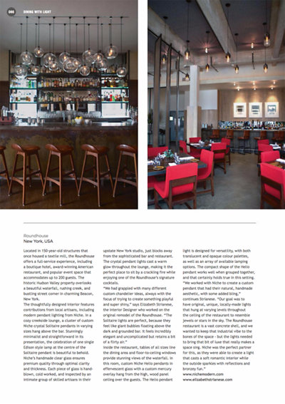 Niche Modern Pendant Lighting Featured in Darc Magazine
