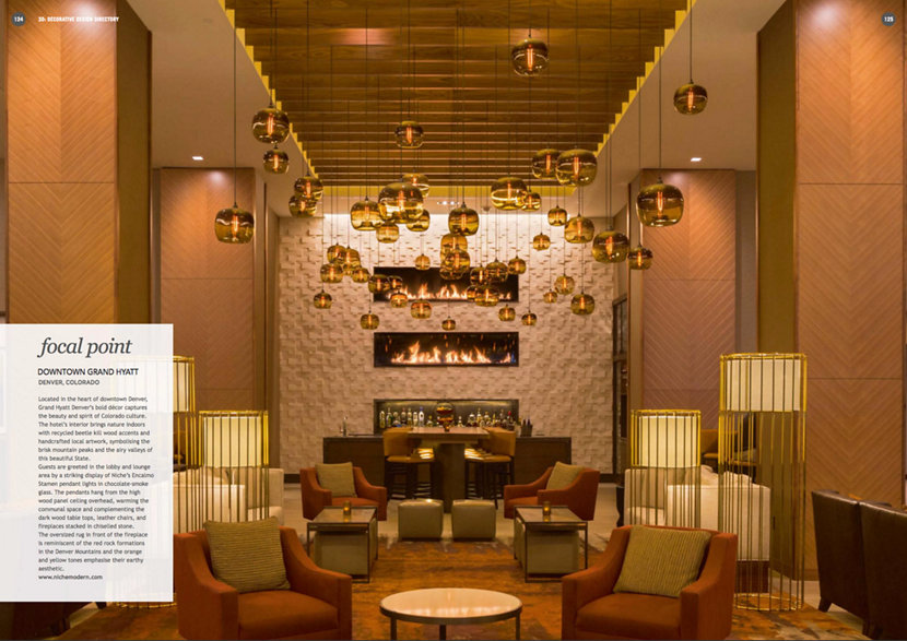 Darc Magazine Features Hotel Pendant Lighting in Downtown Denver Hyatt