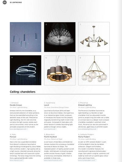 Darc Magazine Features Sola 36 Modern Chandelier