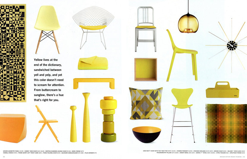 yellow high end design products