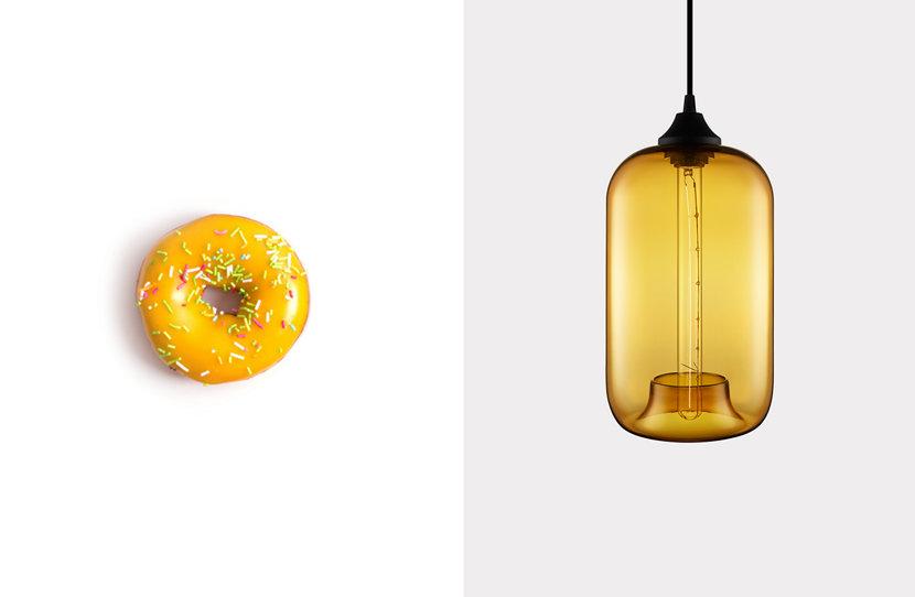 Pod Pendant in Amber Glass
