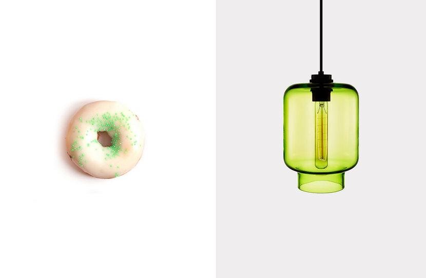 Calla Pendant in Chartreuse Glass
