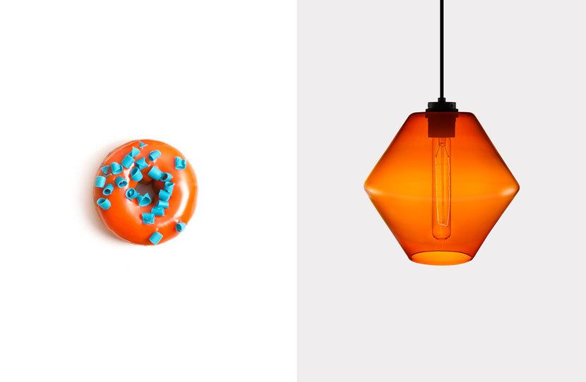 Trove Pendant in Clementine Glass