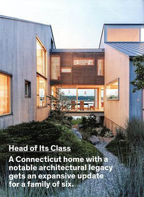 modern beach house featured in Dwell Magazine