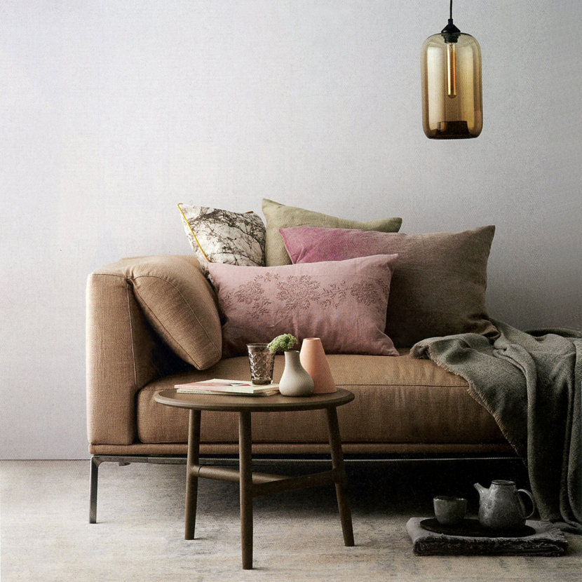 Living Room Pendant Lighting Featured In Elle Decoration