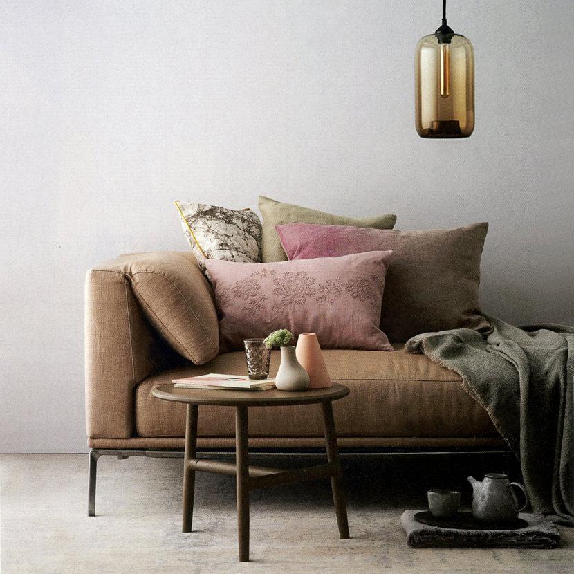 living room pendant lighting in elle decoration magazine