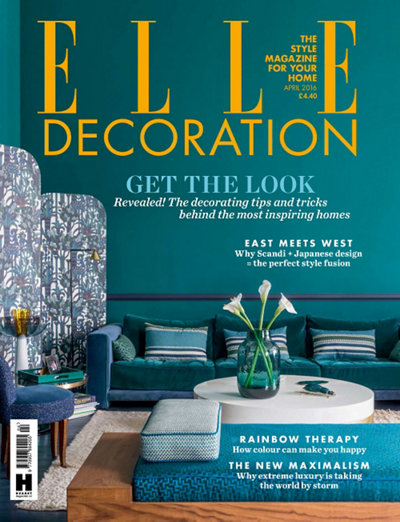Elle Decoration UK April 2016 magazine cover