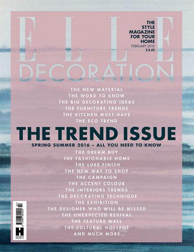 Elle Decoration UK February 2016 magazine cover