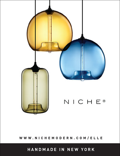 modern glass pendant lighting in Elle Decoration UK