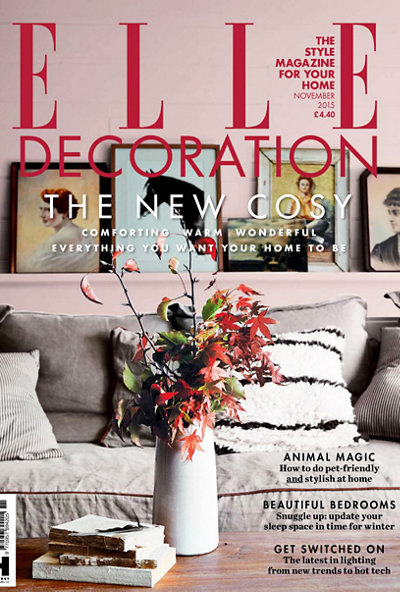 Elle Decoration UK November 2015 magazine cover
