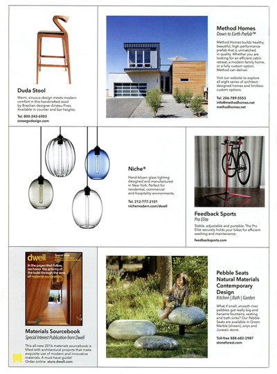modern pendant lighting inside Dwell magazine