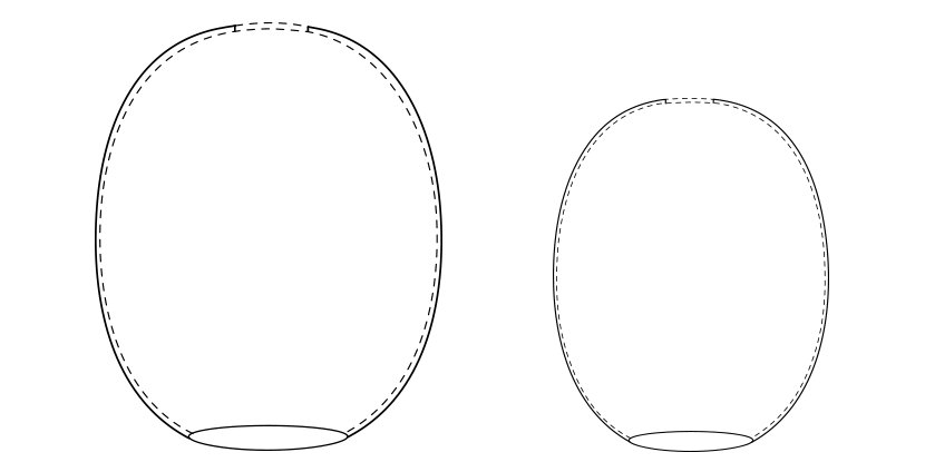 Ellipse Modern Pendant Light Glass Shades